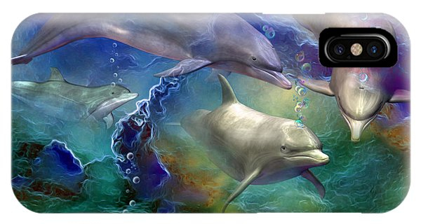 Dolphin iPhone Case - Dolphin Dream by Carol Cavalaris