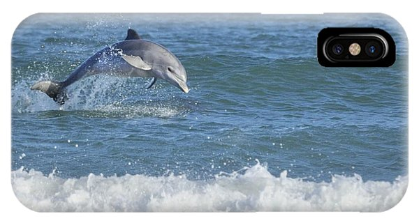 Dolphin In Surf IPhone Case