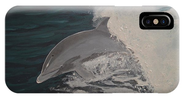 Dolphin In The Wake IPhone Case