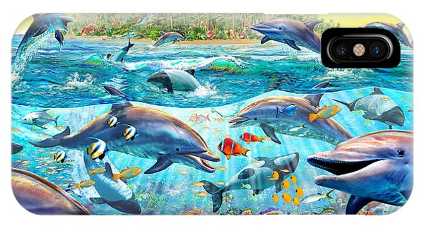 Reef iPhone Case - Dolphin Reef by MGL Meiklejohn Graphics Licensing