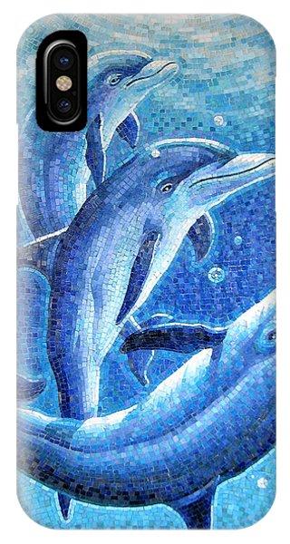 Dolphin Trio IPhone Case
