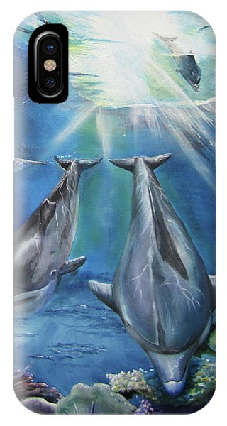 Dolphins Playing IPhone Case