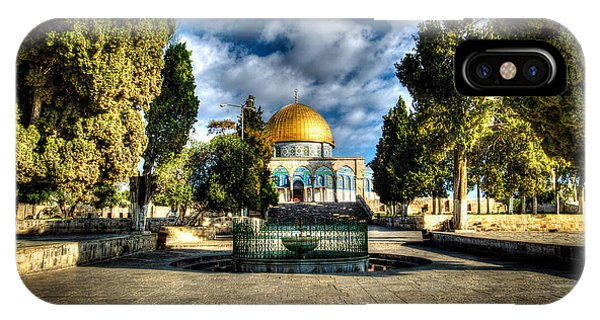 Dome Of The Rock Hdr IPhone Case