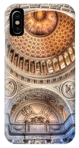 IPhone Case featuring the photograph Domed Ornate Interior by Susan Leonard