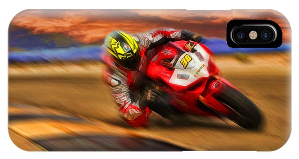Domenic Caluori At Speed IPhone Case