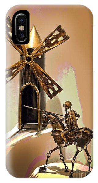 Don Quixote Tilting At Windmills IPhone Case