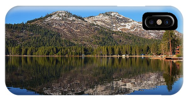 Donner Lake Reflection IPhone Case