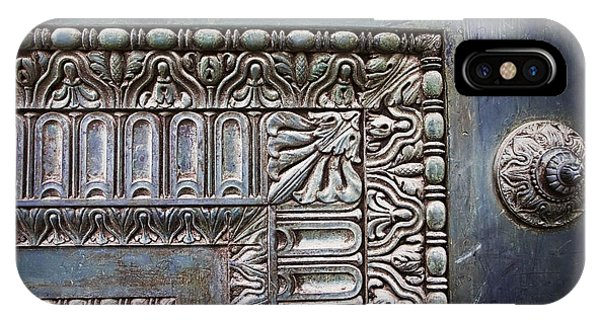 Old Rugged Cross iPhone Case - Door At Pantheon by Evie Carrier