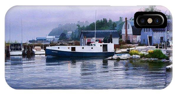 Door County Gills Rock Fishing Village IPhone Case