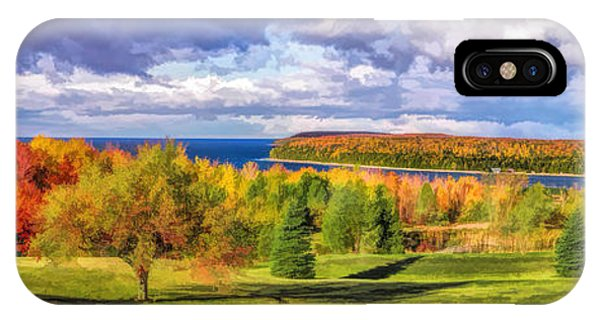 Door County Grand View Scenic Overlook Panorama IPhone Case