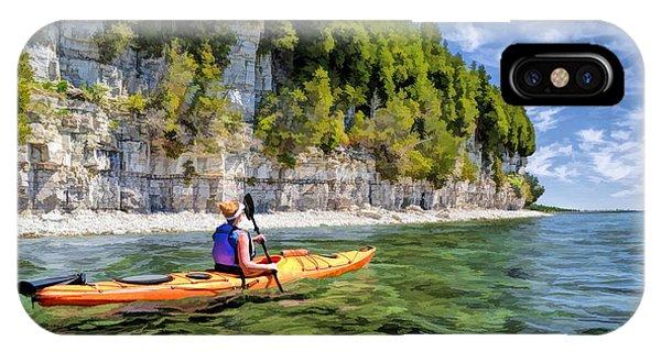 Door County Kayaking Around Rock Island State Park IPhone Case