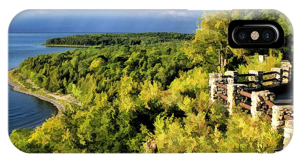 Door County Peninsula State Park Svens Bluff Overlook IPhone Case