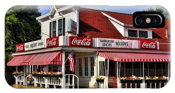 Door County Wilson's Ice Cream Store IPhone Case