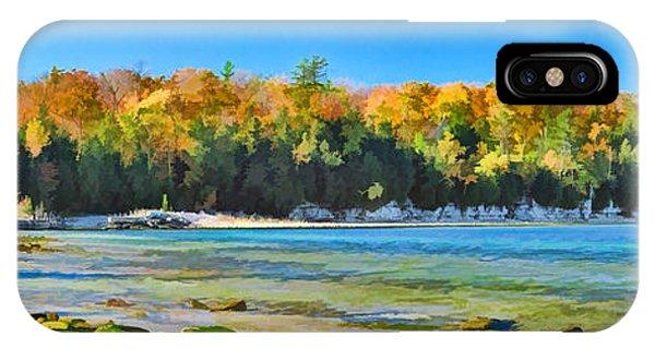 Door County Wisconsin Bay Panorama IPhone Case