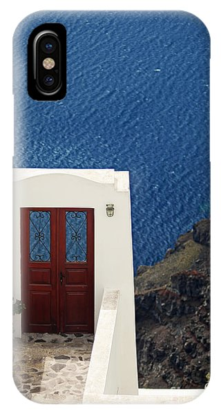 Door Facing The Aegean Sea IPhone Case