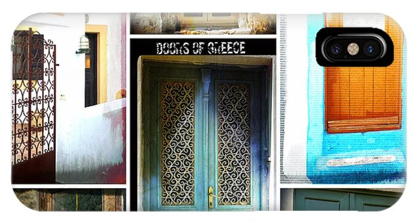 Doors Of Greece Collage IPhone Case