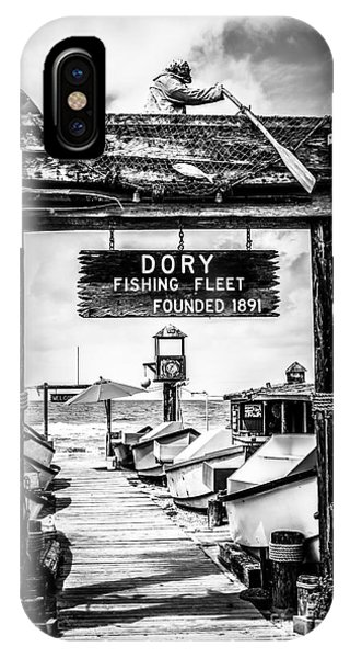 Dory Fishing Fleet Market Black And White Picture IPhone Case