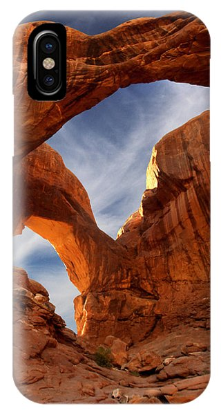 Arches National Park iPhone Case - Double Arch - Utah by Mike McGlothlen