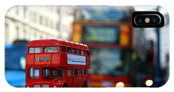 Double Deckers At Piccadilly Circus  IPhone Case