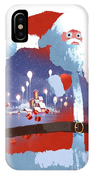 Santa Claus iPhone Case - Double Exposure Of Santa Claus And by Tithi Luadthong