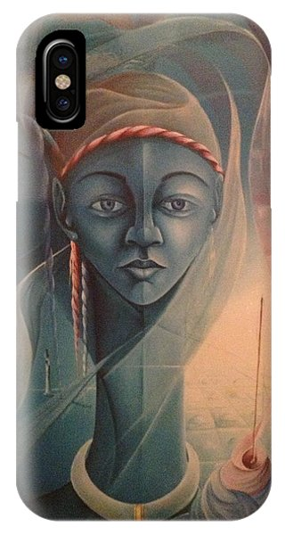 Double Face Of A Voodoo Woman IPhone Case