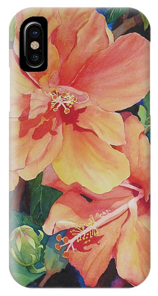 Double Hibiscus IPhone Case