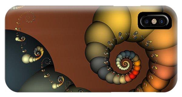 Fractal Geometry iPhone X Case - Double Loop by Karin Kuhlmann