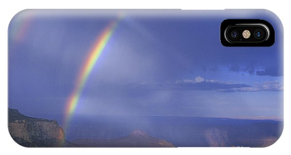 Double Rainbow At Cape Royal Grand Canyon National Park IPhone Case