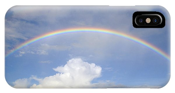 Double Rainbow At Sea IPhone Case