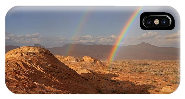 Double Rainbow At The Valley Of Fire IPhone Case
