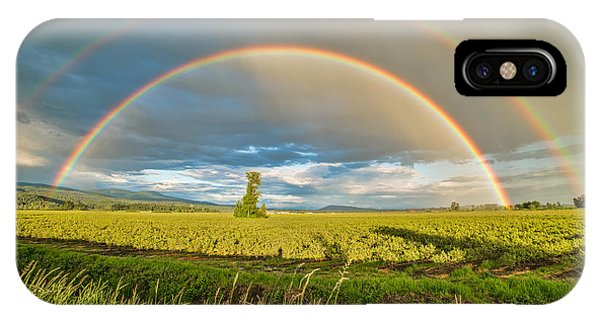 Wheeler Farm iPhone Case - Double Rainbow by James Wheeler