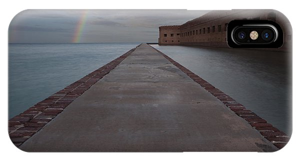 Double Rainbow Over Fort Jefferson IPhone Case