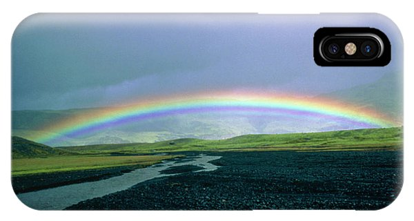 Double Rainbow Over Iceland Phone Case by Simon Fraser/science Photo Library