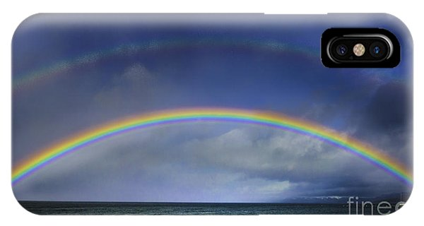 Double Rainbow Over Lake Tahoe IPhone Case