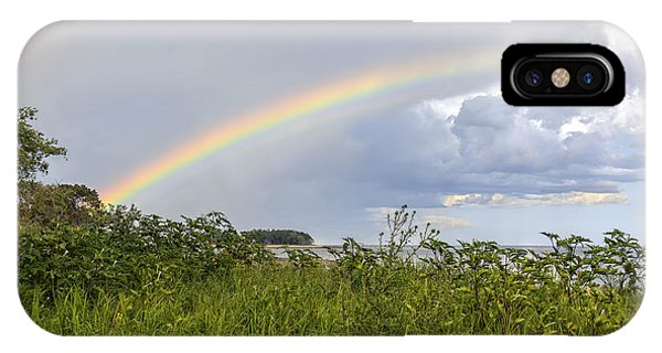 Double Rainbow Sheffield Island IPhone Case