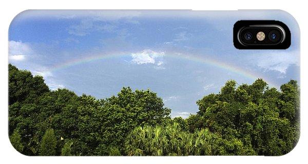 Double Rainbow St. Pete Fl IPhone Case