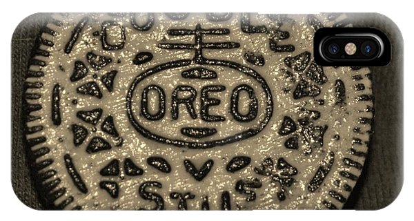 iPhone Case - Double Stuff Oreo In Sepia Negitive by Rob Hans