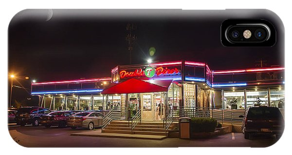 Double T Diner At Night IPhone Case