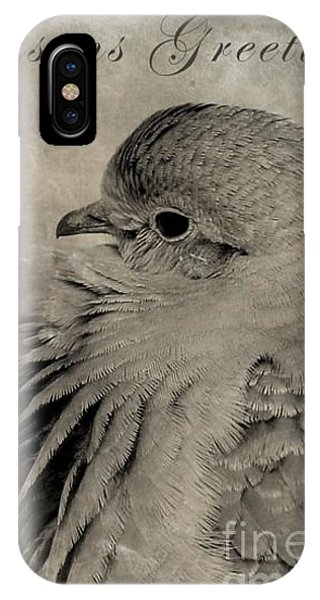 Dove Holiday Greeting Card Phone Case by Christina Williams
