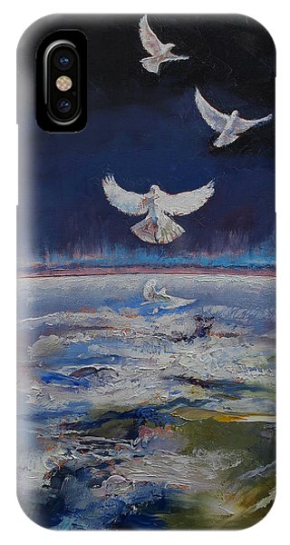 Illusion iPhone Case - Doves by Michael Creese