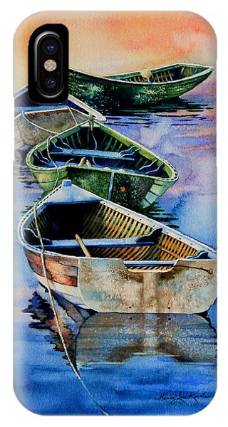 Down East Dories At Dawn IPhone Case