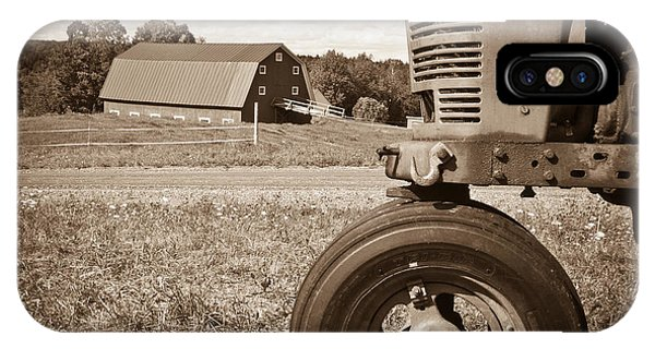 New England Barn iPhone Case - Down On The Farm by Edward Fielding