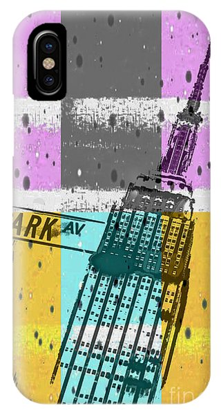 Street Sign iPhone Case - Down Park Av by Az Jackson