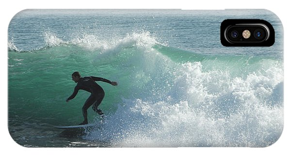 Santa Cruz Surfing iPhone Case - Down The Line by Donna Blackhall