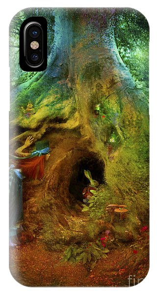 Alice In Wonderland iPhone Case - Down The Rabbit Hole by Aimee Stewart
