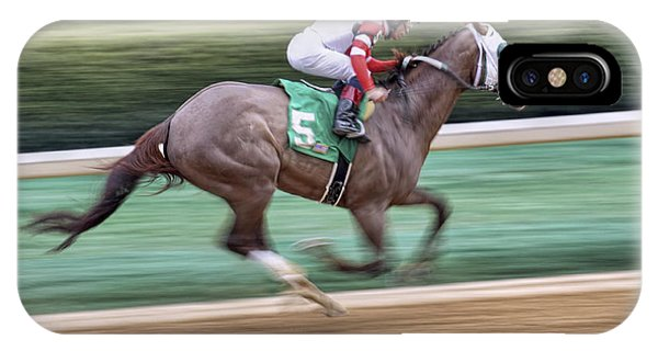 Down The Stretch - Horse Racing - Jockey IPhone Case