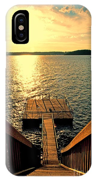 Down To The Fishing Dock - Lake Of The Ozarks Mo IPhone Case