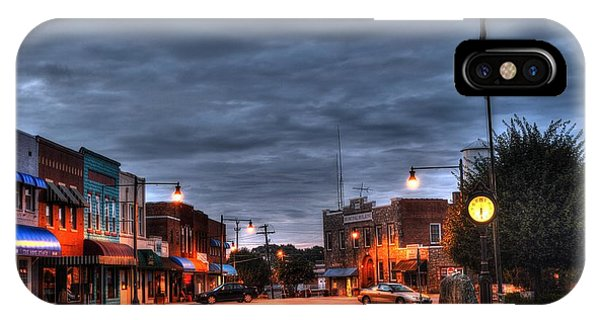 Down Town Granite Falls At Six Thirty In The Morning IPhone Case