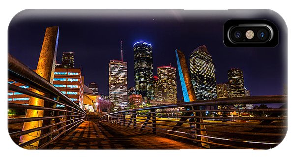 Down Town Houston From The Buffalo Bayou Bridge IPhone Case