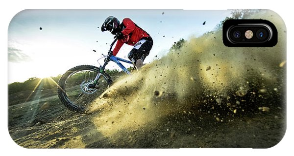 Dust iPhone Case - Downhill by Attila Szabo